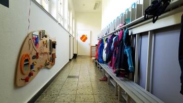 Flurbereich mit den Garderoben