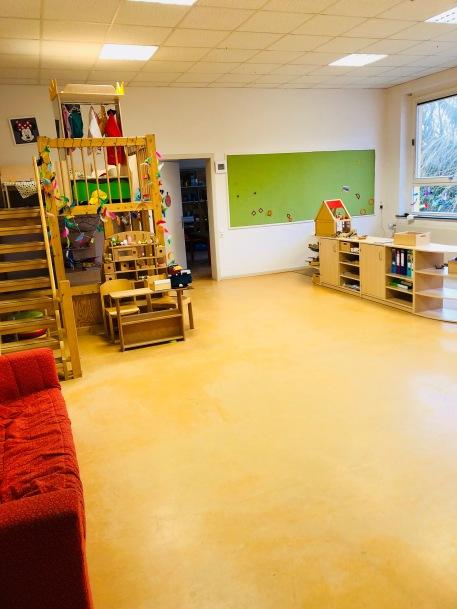 Marienkäferraum mit Rollenspiel- und Konstruktionsbereich